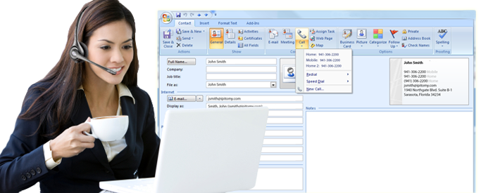 Outlook Dialer